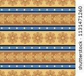 seamless vector decorative... | Shutterstock .eps vector #1131471260