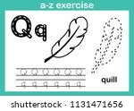 alphabet a z exercise with... | Shutterstock .eps vector #1131471656