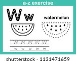 alphabet a z exercise with... | Shutterstock .eps vector #1131471659