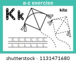 alphabet a z exercise with... | Shutterstock .eps vector #1131471680