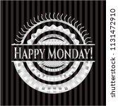 happy monday  silver badge | Shutterstock .eps vector #1131472910