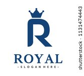 initial   monogram r for royal... | Shutterstock .eps vector #1131474443