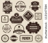 vector set. vintage labels.... | Shutterstock .eps vector #113147584