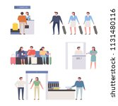 people character in airport.... | Shutterstock .eps vector #1131480116