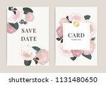 wedding invitation  floral...   Shutterstock .eps vector #1131480650