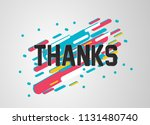 thanks  beautiful greeting card ... | Shutterstock .eps vector #1131480740