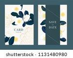 wedding invitation  floral... | Shutterstock .eps vector #1131480980