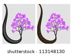 abstract silhouette of a tree...   Shutterstock .eps vector #113148130