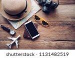 travel accessories costumes....   Shutterstock . vector #1131482519