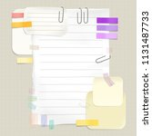 reminders and message notes... | Shutterstock .eps vector #1131487733