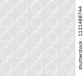 seamless pattern of circles and ... | Shutterstock .eps vector #1131488744