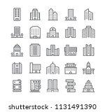editable simple line stroke... | Shutterstock .eps vector #1131491390