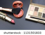 cosmetics on dark background ... | Shutterstock . vector #1131501833