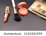 cosmetics on dark background ... | Shutterstock . vector #1131501959