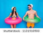 happy rested young woman and... | Shutterstock . vector #1131510503