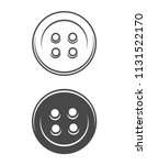 vintage sewing buttons concept... | Shutterstock .eps vector #1131522170
