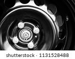 car tires and wheels with... | Shutterstock . vector #1131528488