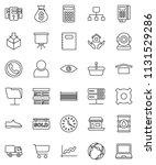 thin line vector icon set  ... | Shutterstock .eps vector #1131529286