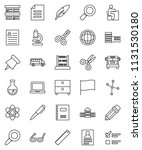 thin line vector icon set  ... | Shutterstock .eps vector #1131530180
