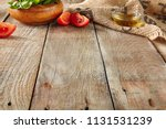 italian food on old wooden... | Shutterstock . vector #1131531239