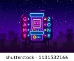 game zone logo vector neon....   Shutterstock .eps vector #1131532166