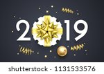 2019 happy new year greeting... | Shutterstock .eps vector #1131533576