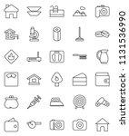 thin line vector icon set  ... | Shutterstock .eps vector #1131536990