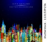 modern city life abstract... | Shutterstock .eps vector #1131539156