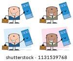 businessman cartoon character... | Shutterstock . vector #1131539768