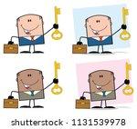 businessman cartoon character... | Shutterstock . vector #1131539978