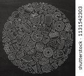 line art vector hand drawn set... | Shutterstock .eps vector #1131542303