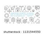 start up horizontal... | Shutterstock .eps vector #1131544550