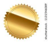golden seal isolated on white... | Shutterstock .eps vector #1131546089