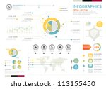 infographics set and... | Shutterstock .eps vector #113155450