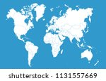 color world map vector | Shutterstock .eps vector #1131557669
