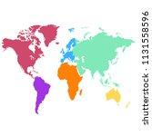 world map vector | Shutterstock .eps vector #1131558596