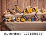 close up of a large set of... | Shutterstock . vector #1131558893