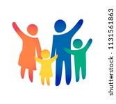 happy family icon multicolored... | Shutterstock .eps vector #1131561863