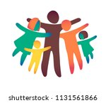 happy family icon multicolored... | Shutterstock .eps vector #1131561866