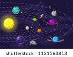 planetary system planets with... | Shutterstock .eps vector #1131563813
