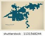 modern city map   bakersfield... | Shutterstock .eps vector #1131568244