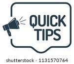 quick tips announcement   Shutterstock .eps vector #1131570764