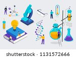 chemistry lab and school class  ... | Shutterstock .eps vector #1131572666