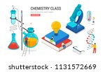 chemistry lab and school class  ... | Shutterstock .eps vector #1131572669