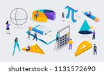 math lab and school class.... | Shutterstock .eps vector #1131572690