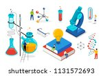 chemistry lab and school class  ... | Shutterstock .eps vector #1131572693