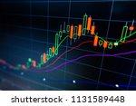 stock market graph analysis for ... | Shutterstock . vector #1131589448
