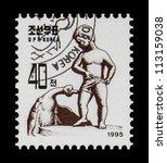 korea   circa 1995  a stamp...   Shutterstock . vector #113159038