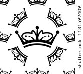 crown icon seamless pattern ... | Shutterstock .eps vector #1131592409