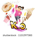 woman overcoming the desire to...   Shutterstock .eps vector #1131597383